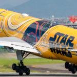 伊丹空港で撮るSTAR WARSジェットと、かどや飯店のかどや丼
