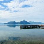 夏の北海道 天体のメソッドの舞台の洞爺湖と、望羊蹄のカニバターライス